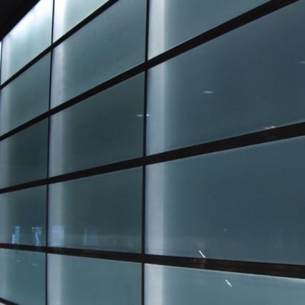 Lámina translúcida interior color gris mate para ventanas