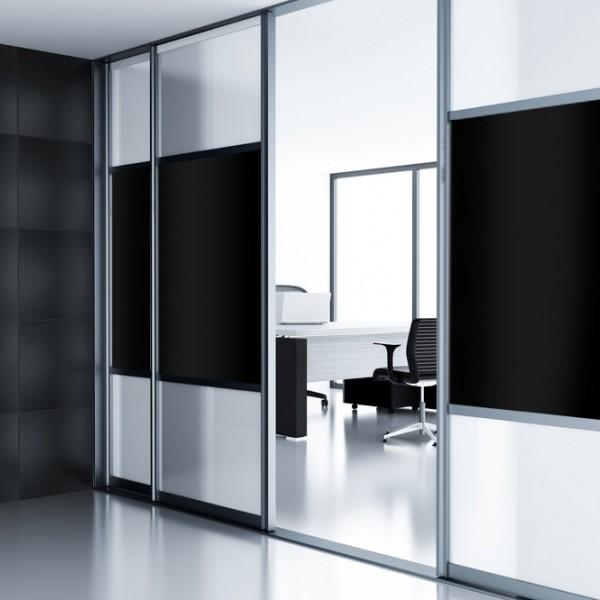 Lámina opaca interior color negro para ventanas y cristales